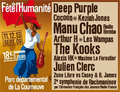 Fête de l'huma 2009 - le programme