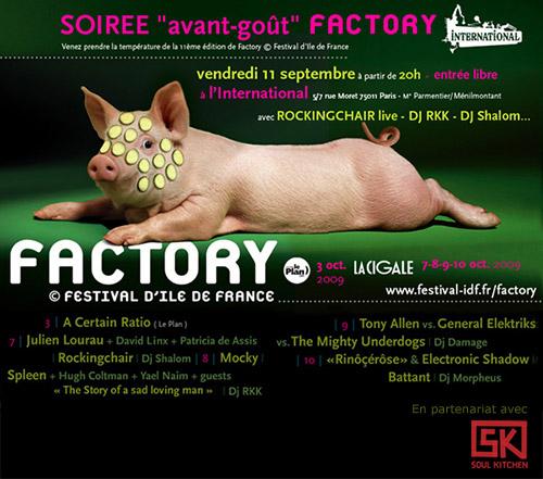 Soirée de lancement Factory 2009