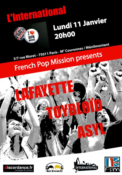 French Pop Mission le 11 Janvier @ L'international