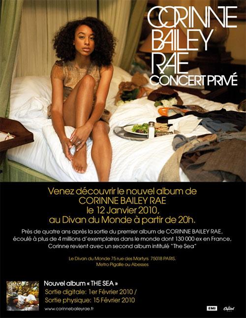 Invitations pour le concert privé de Corinne Bailey Rae