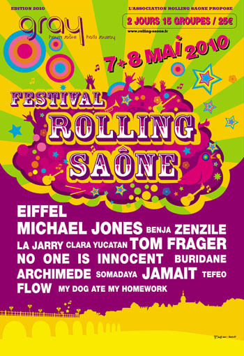 Programmation officielle du festival Rolling Saone 2010