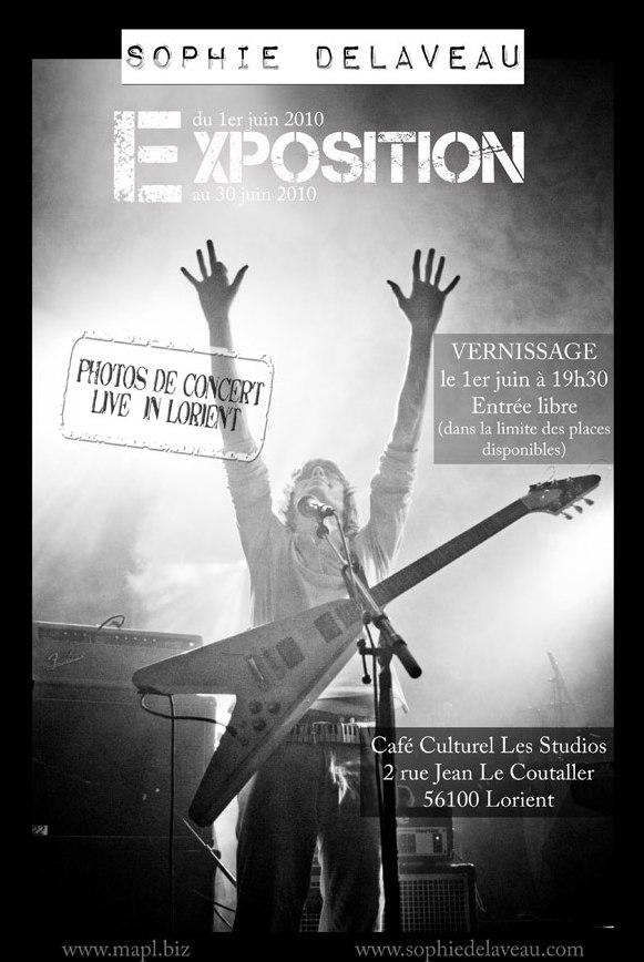 Expo de photos de concert par Sophie Delaveau