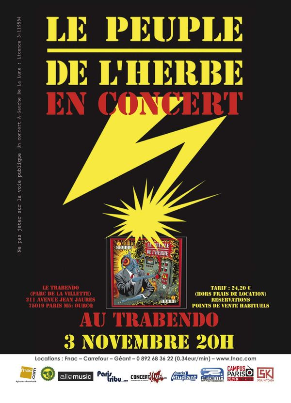 Concours : 4 places pour le concert du Peuple de l'Herbe au Trabendo