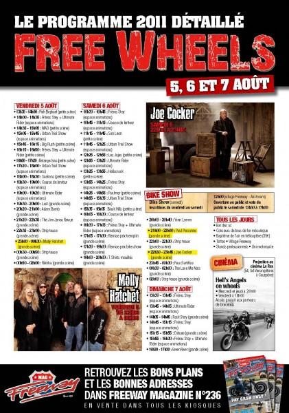 programme Free Wheels 2011