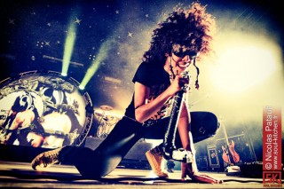 photos concert : Shaka Ponk - festival Couvre feu 2011