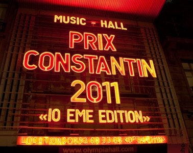 Prix Constantin 2011 @ Olympia, paris - 17.10.2011