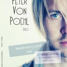 Peter von Poehl en concert @ Le Temple Lanterne le 13 avril 2012