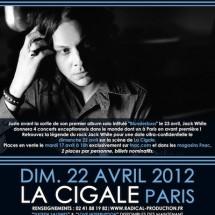Jack White en concert à la Cigale le 22 avril