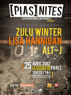 PIAS NITES avec Lisa Hannigan + Alt J + Zulu Winter - 25-04-2012