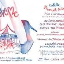 2X2 places pour la soirée Colette / French Kiss