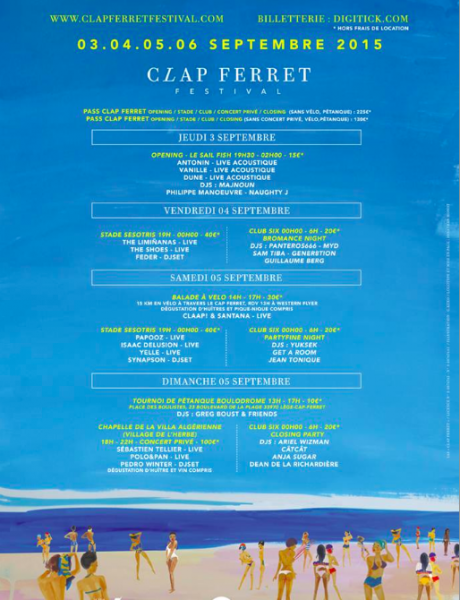 Programmation Clap Ferret 2015