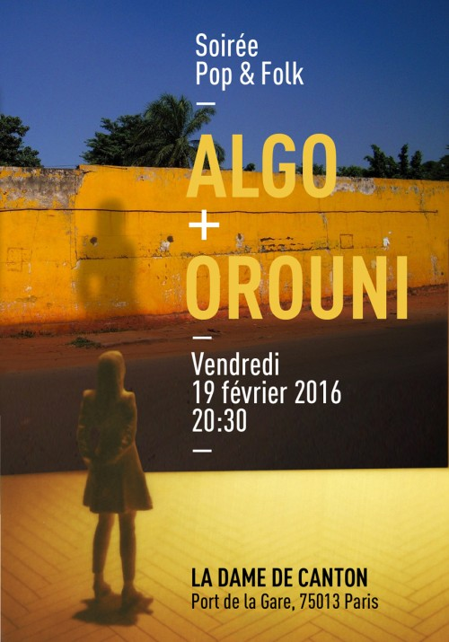 Flyer Algo/Orouni © Pascal Blua)