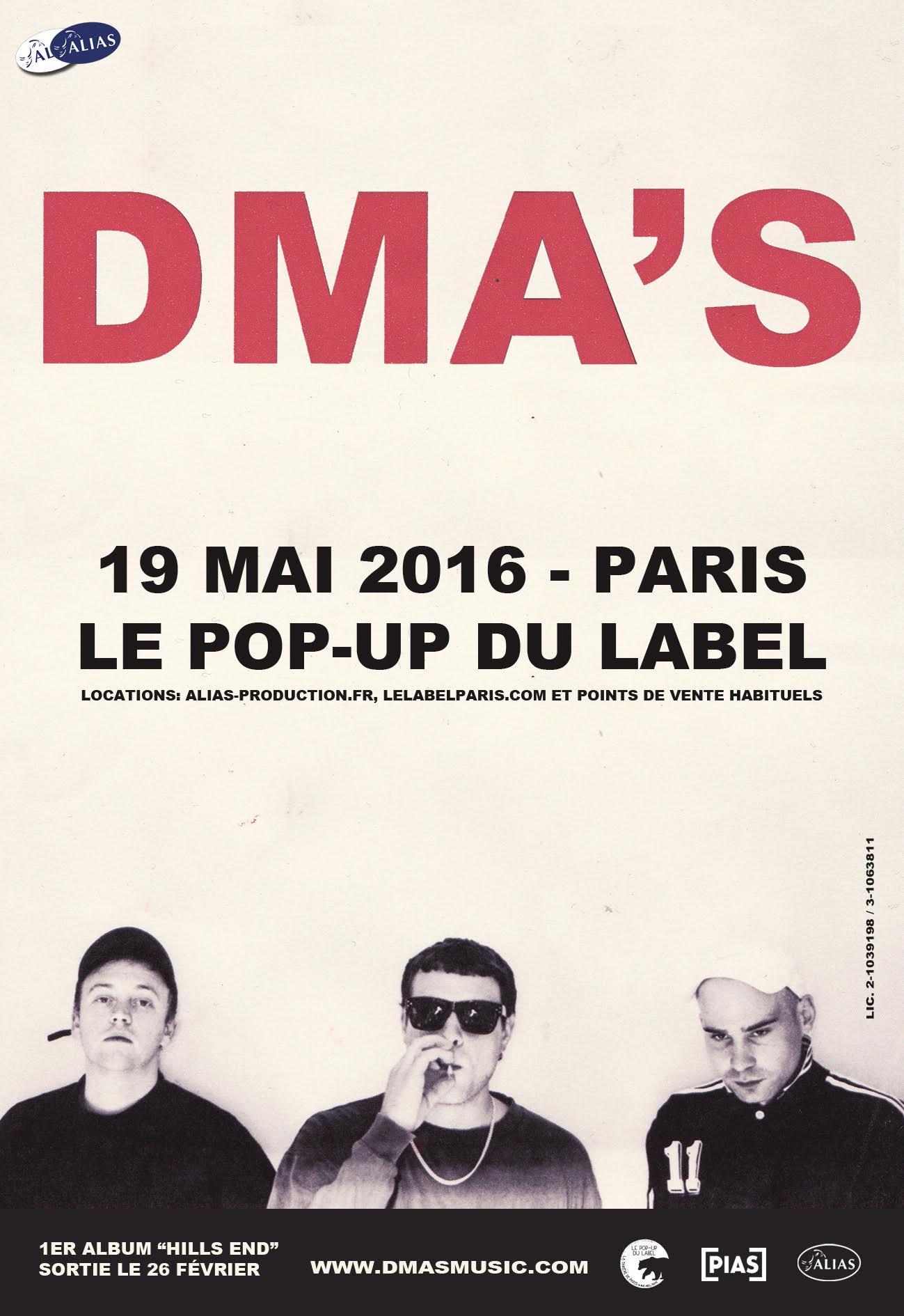 DMA'S au Popup