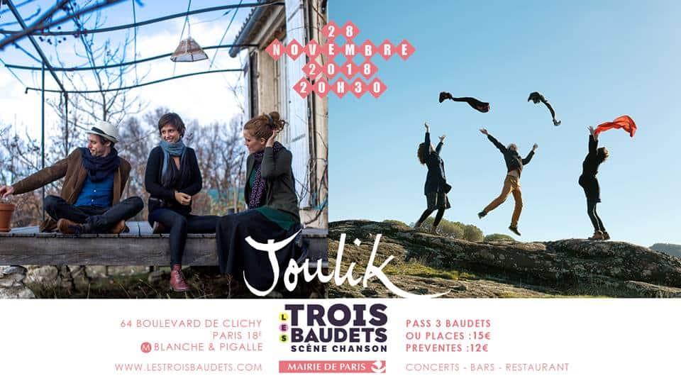 2X2 places pour Joulik aux Trois Baudets